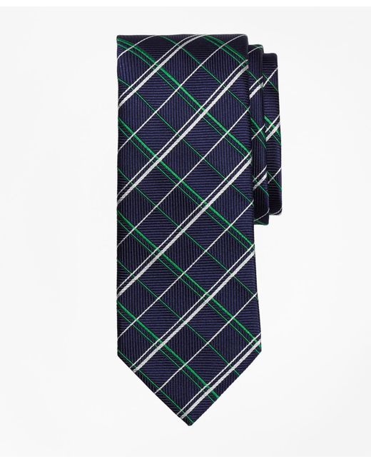 Brooks Brothers - Green Double Alternating Windowpane Tie for Men - Lyst