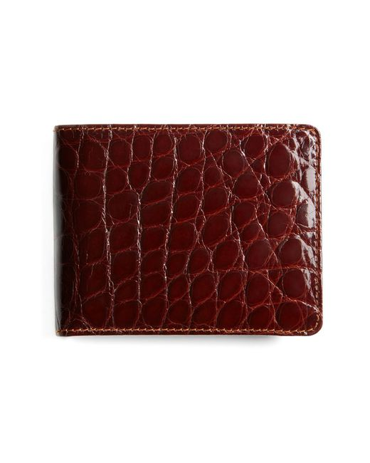 Brooks Brothers - Brown American Alligator Wallet for Men - Lyst