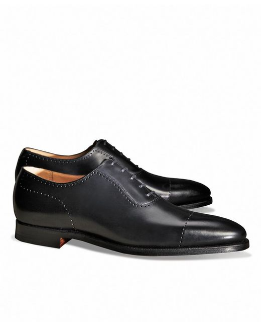 Brooks Brothers - Black Peal & Co.® Perforated Captoes for Men - Lyst