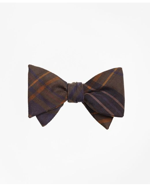Brooks Brothers - Green Ancient Madder Plaid Print Bow Tie for Men - Lyst