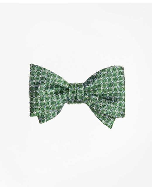 Brooks Brothers | Green Parquet Link Bow Tie for Men | Lyst