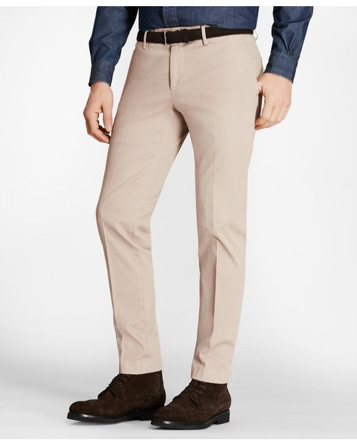 Brooks Brothers - Multicolor Soho Fit Garment-dyed Stretch Cavalry Twill Chinos for Men - Lyst