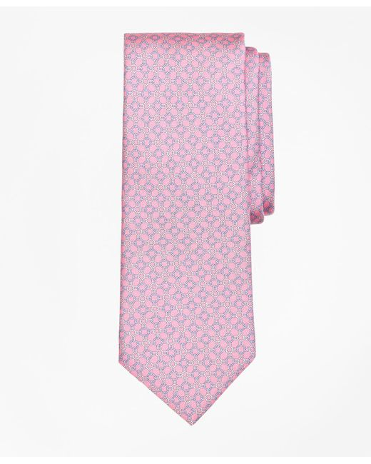 Brooks Brothers - Pink Circle Link Print Tie for Men - Lyst