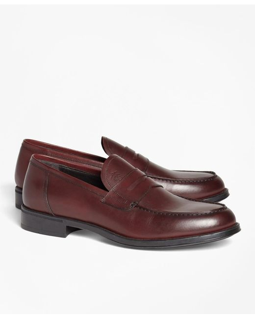 Brooks Brothers - Multicolor 1818 Footwear Rubber-sole Leather Penny Loafers for Men - Lyst