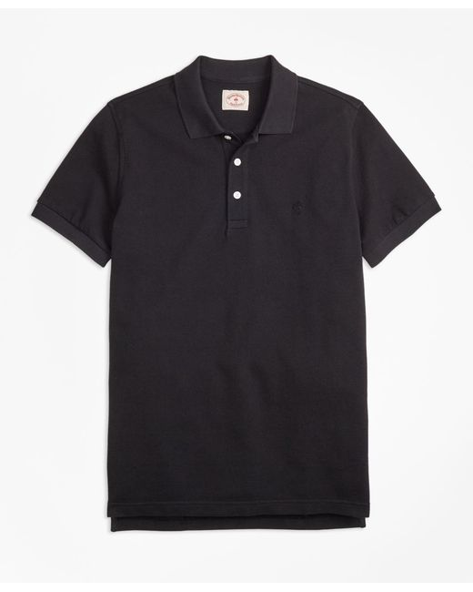 Brooks Brothers - Black Garment-dyed Cotton Pique Polo Shirt for Men - Lyst