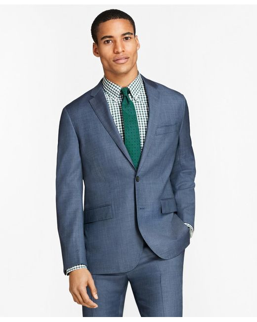 Brooks Brothers | Blue Sharkskin Wool Suit Jacket for Men | Lyst