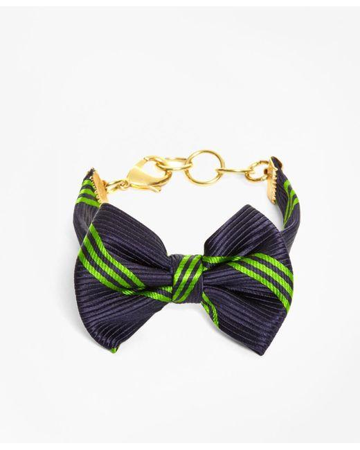 Brooks Brothers - Blue Bow Tie Bracelet By Kiel James Patrick - Lyst