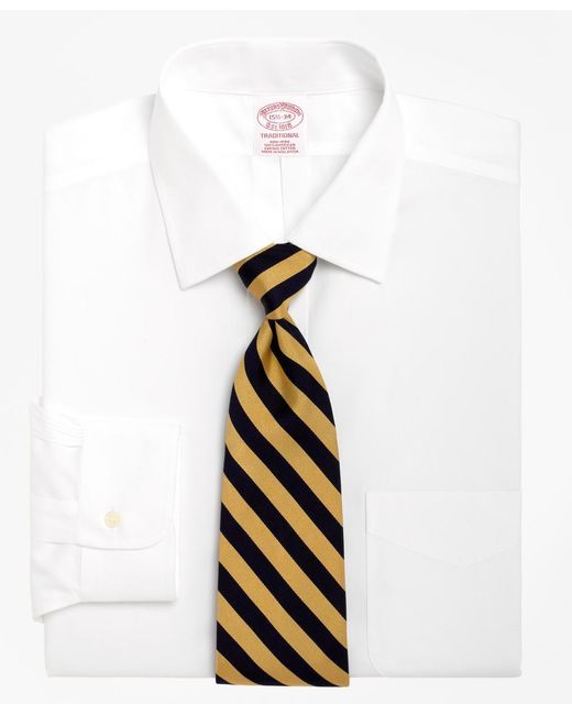 Brooks Brothers - White Non-iron Traditional Fit Spread Collar Dress Shirt for Men - Lyst