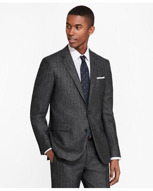 Brooks Brothers - Black Milano Fit Herringbone 1818 Suit for Men - Lyst