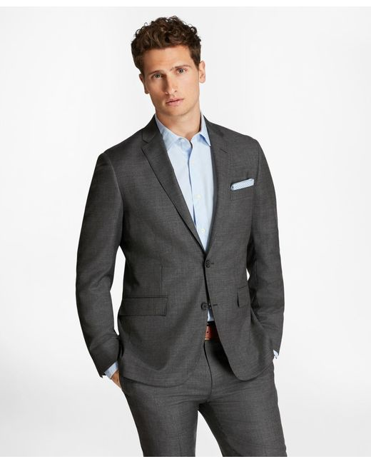 Brooks Brothers | Gray Sharkskin Wool Suit Jacket for Men | Lyst