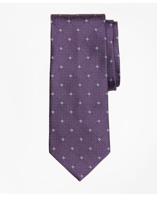 Brooks Brothers - Purple Cross And Dots Tie for Men - Lyst