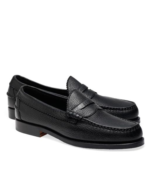 Brooks Brothers | Black Allen Edmonds Beef Roll Pebble Penny Loafers for Men | Lyst