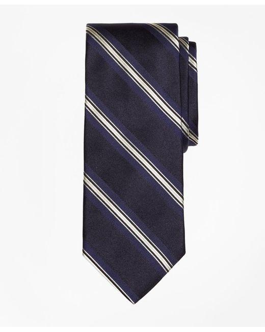 Brooks Brothers - Blue Framed Stripe Tie for Men - Lyst