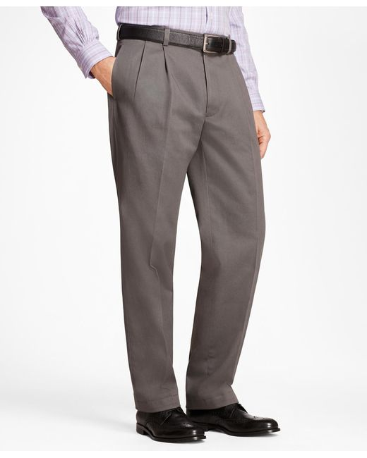Brooks Brothers - Gray Elliot Fit Stretch Advantage Chinos® for Men - Lyst