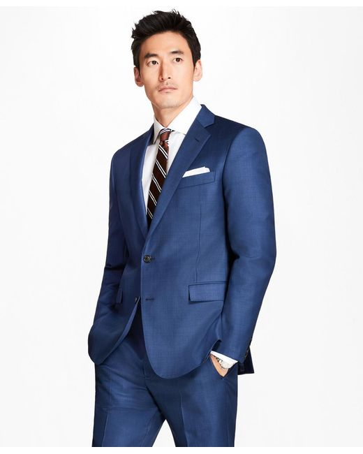 Brooks Brothers - Blue Regent Fit Sharkskin 1818 Suit for Men - Lyst