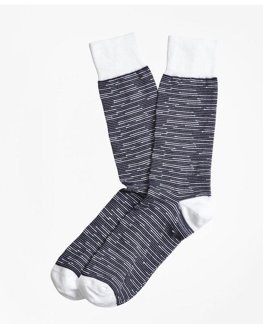 Brooks Brothers - Blue Feeder Stripe Crew Socks for Men - Lyst