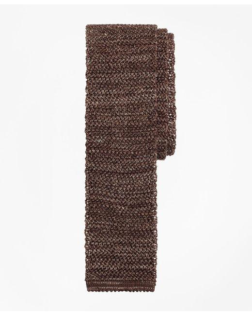 Brooks Brothers | Brown Melange Knit Tie for Men | Lyst