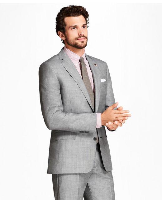 Brooks Brothers | Gray Regent Fit Sharkskin 1818 Suit for Men | Lyst