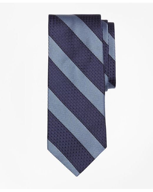 Brooks Brothers - Blue Textured Framed Stripe Tie for Men - Lyst