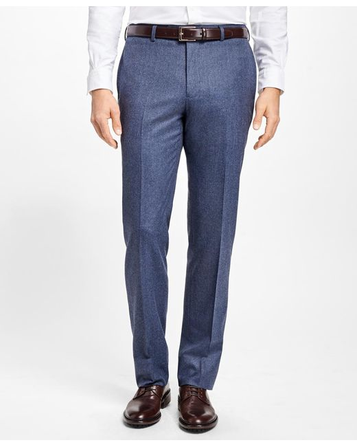 Brooks Brothers - Blue Regent Fit Stretch Flannel Trousers for Men - Lyst