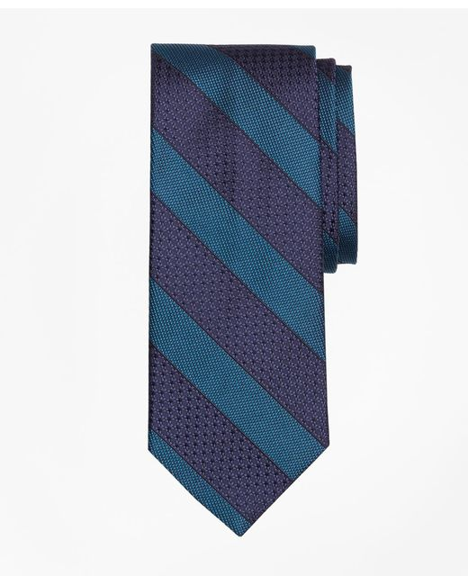 Brooks Brothers - Green Textured Framed Stripe Tie for Men - Lyst