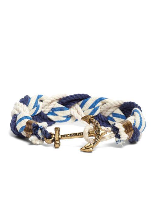 Brooks Brothers - Blue Kiel James Patrick Stripe Braided Bracelet for Men - Lyst