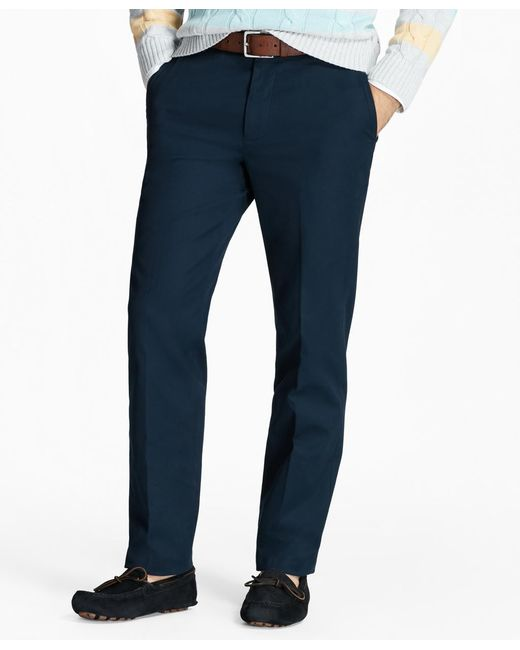 Brooks Brothers | Blue Milano Fit Piece-dyed Supima® Cotton Stretch Chinos for Men | Lyst