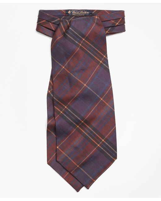 Brooks Brothers | Multicolor Ancient Madder Plaid Ascot for Men | Lyst