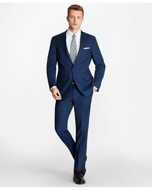 e97a4017c0a ... Brooks Brothers - Blue Regent Fit Brookscool Pinstripe Suit for Men -  Lyst ...