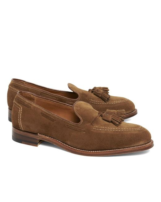Brooks Brothers - Brown Suede Tassel Mocs for Men - Lyst