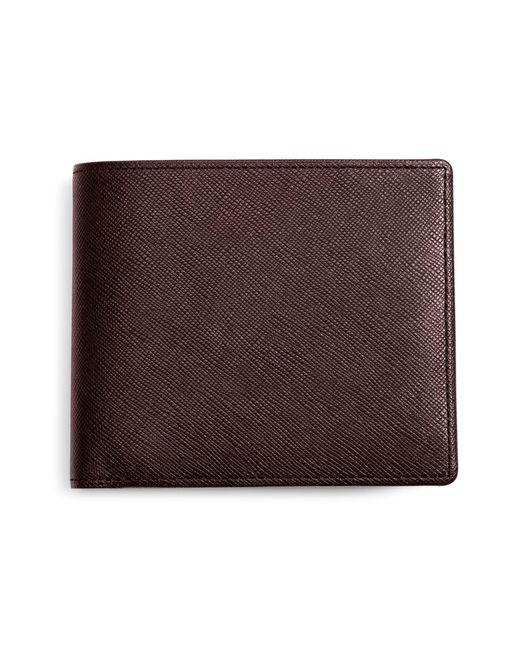 Brooks Brothers - Brown Saffiano Leather Euro Wallet for Men - Lyst