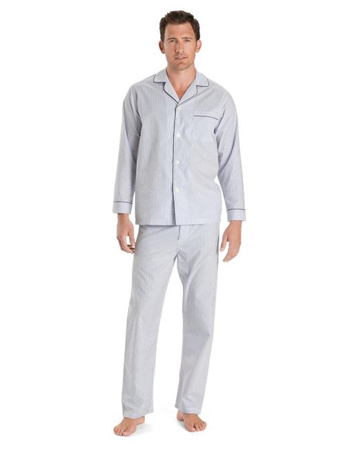 Brooks Brothers   Wrinkle-resistant Blue Stripe Pajamas for Men   Lyst