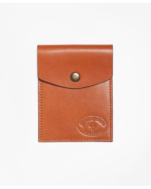 Brooks Brothers - Multicolor Leather Card Case for Men - Lyst
