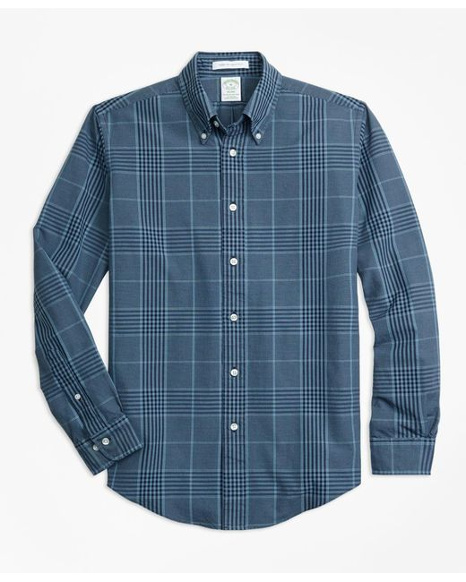 Brooks Brothers - Blue Milano Fit Indigo Glen Plaid Sport Shirt for Men - Lyst
