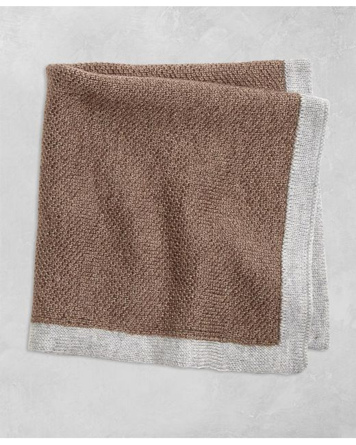 Brooks Brothers   Brown Golden Fleece® Knit Pocket Square for Men   Lyst