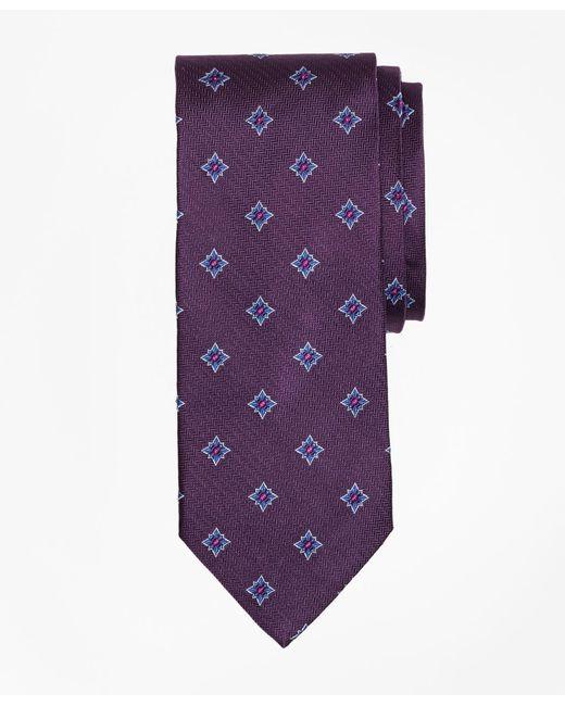 Brooks Brothers | Purple Herringbone Starburst Tie for Men | Lyst