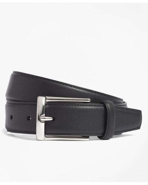 Brooks Brothers | Black Calfskin Dress Belt for Men | Lyst