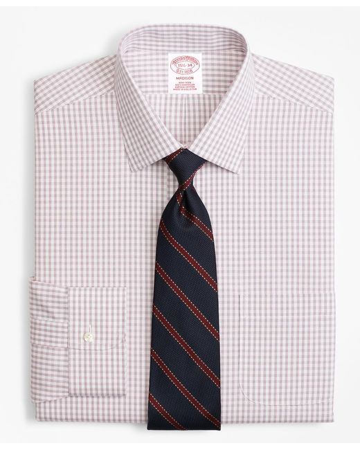 Brooks Brothers - Blue Madison Classic-fit Dress Shirt, Non-iron Framed Windowpane for Men - Lyst