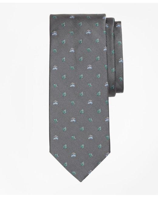 Brooks Brothers - Gray Golden Fleece® Leaf Tie for Men - Lyst