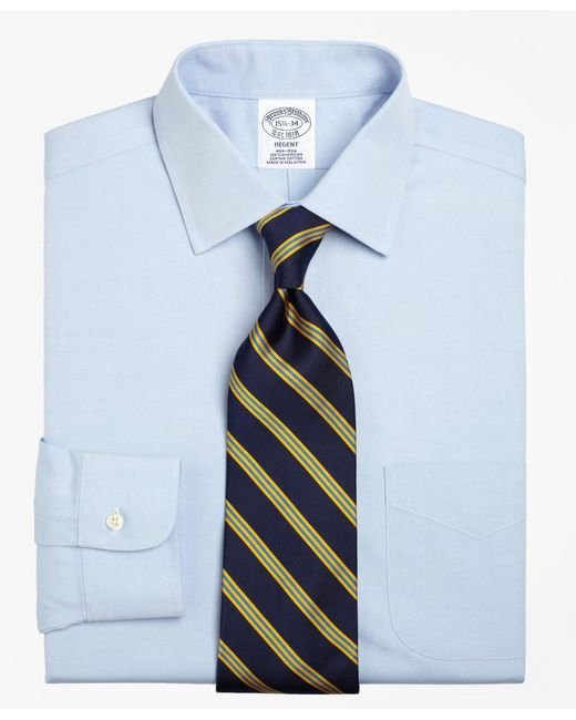 Brooks Brothers | Blue Non-iron Regent Fit Spread Collar Dress Shirt for Men | Lyst