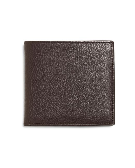 Brooks Brothers - Brown Pebble Leather Euro Wallet With Coin Case for Men - Lyst