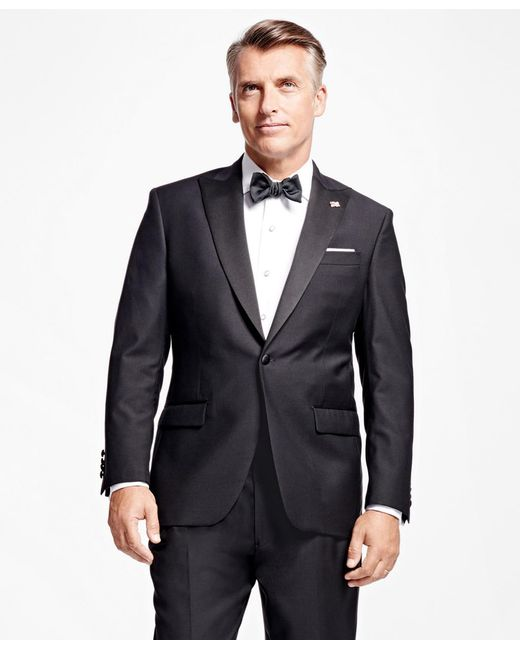 Brooks Brothers - Black One-button Peak Lapel Tuxedo Jacket for Men - Lyst