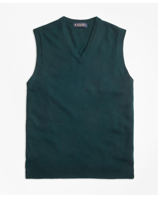 Brooks Brothers - Green Cashmere Vest for Men - Lyst