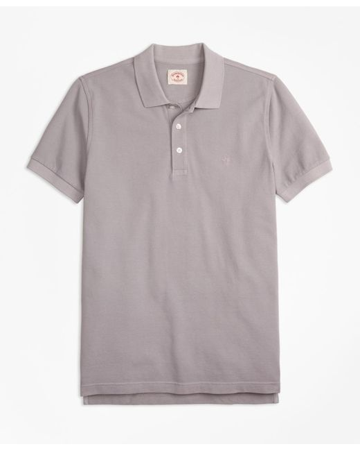 Brooks Brothers | Gray Garment-dyed Cotton Pique Polo Shirt for Men | Lyst