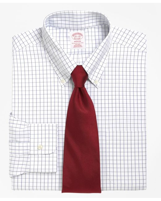 Brooks Brothers - Blue Non-iron Milano Fit Windowpane Dress Shirt for Men - Lyst