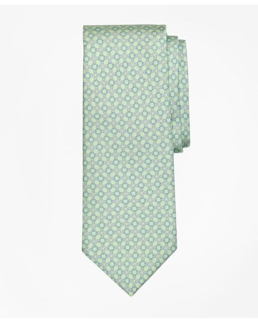 Brooks Brothers - Green Circle Link Print Tie for Men - Lyst