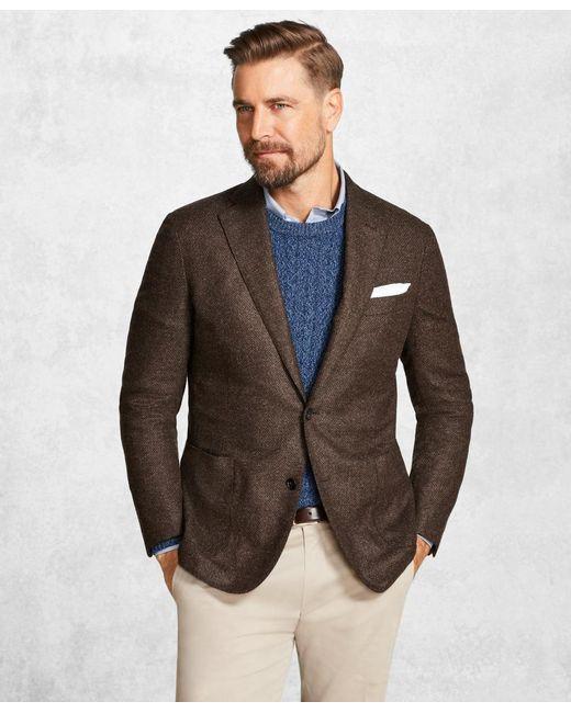 Brooks Brothers - Golden Fleece® Brown Textured Solid Sport Coat for Men - Lyst
