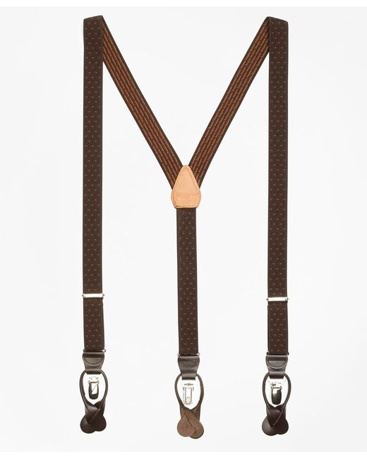 Brooks Brothers | Brown Polka Dot Suspenders for Men | Lyst