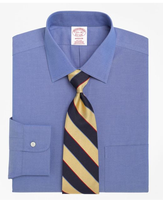 Brooks Brothers | Blue Non-iron Madison Fit Spread Collar Dress Shirt for Men | Lyst