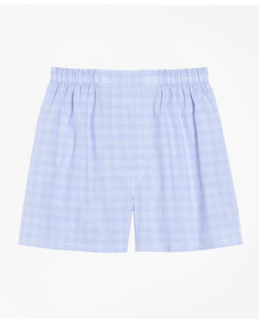 Brooks Brothers - Blue Traditional Fit Glen Plaid Boxers for Men - Lyst